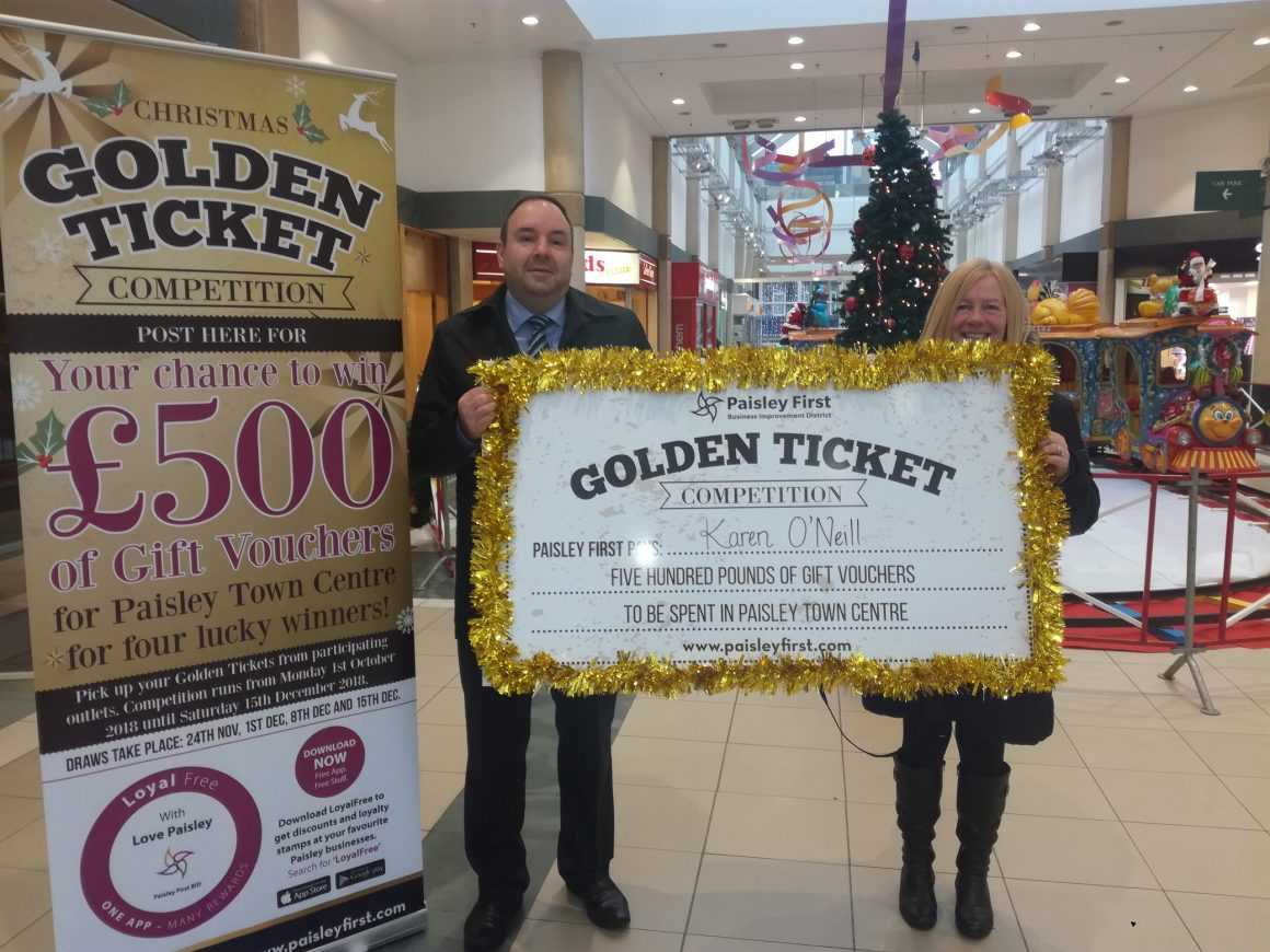 Paisley Town Centre Golden Ticket Competition