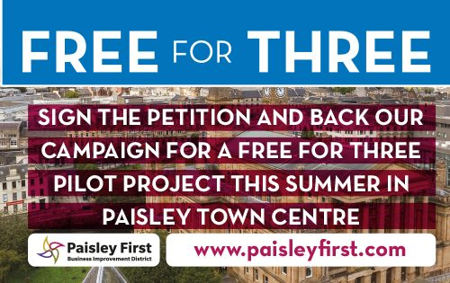 Paisley First needs your support for Free for Three!