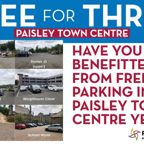 Help us keep Free for Three in Paisley town centre!